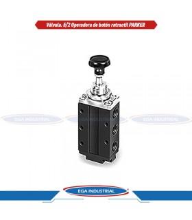 Botón hongo emergencia rojo con giro schneider electric ZB4BS844